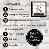 Workshop: DIY Modern Wood Sign