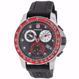 WENGER Mens Battalion Field Chrono Red and Black Rubber Strap Watch 70789 - BrandNamesWatch.com