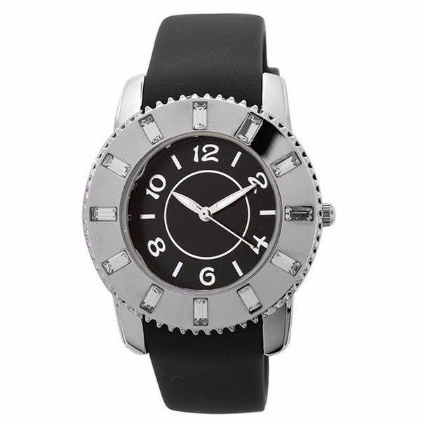 FMD by Fossil Lady's Standard 3-Hand Analog Base Metal Silicone Watch FMDCT407A
