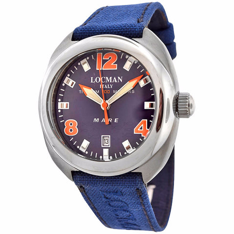 Locman Men's Blue Face Mare Collection Titanium Watch