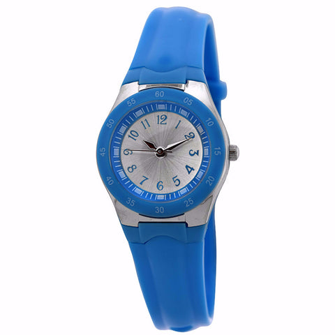 FMD by Fossil Women's Standard 3-Hand Analog Base Metal Silicone Watch FMDX254