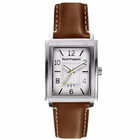 HUSH PUPPIES MEN'S BROWN LEATHER WATCH HP.3600M.2522