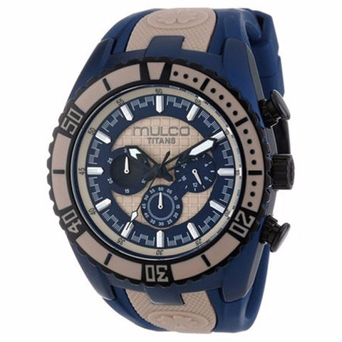 MULCO Titans Wave Chronograph Blue and Beige Dial Unisex Watch MW5-1836-114