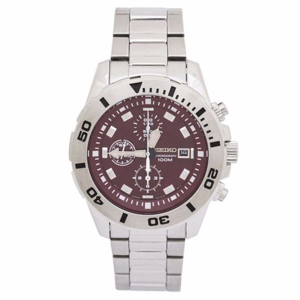 SEIKO SNDE15P1 Quartz Stainless Steel Red Dial Mens Watch