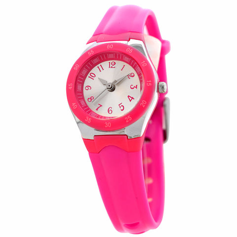 FMD by Fossil Women's Standard 3-Hand Analog Base Metal Silicone Watch FMDX256