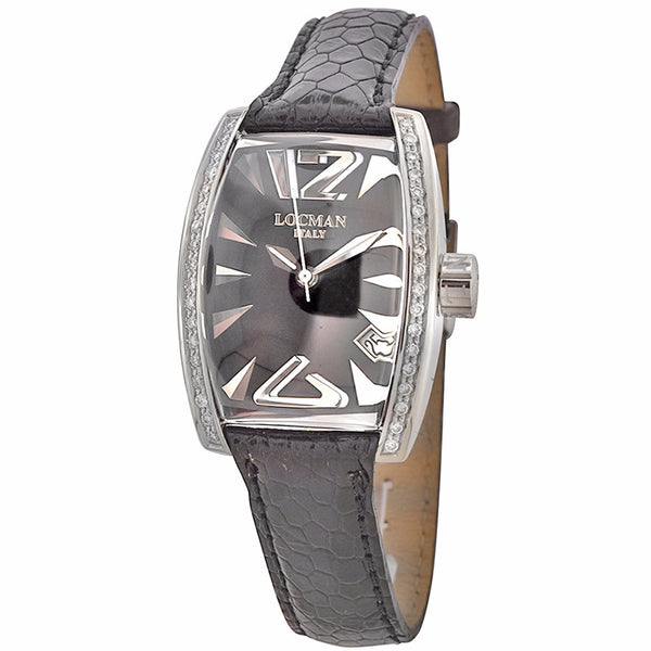 Locman Panorama Men's Watch Black Ostrich Band Automatic Date Watch