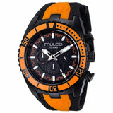 MULCO MEN'S TITAN WAVE BLACK DIAL ORANGE BESEL WATCH MW5-1836-615 - BrandNamesWatch.com