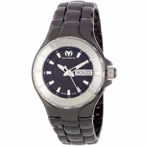 TECHNOMARINE CRUISE CERAMIC BLACK DIAL UNISEX WATCH 110026C