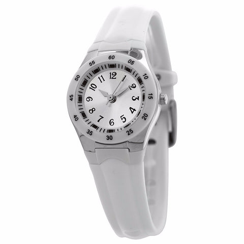 FMD by Fossil Women's Standard 3-Hand Analog Base Metal Silicone Watch FMDX258