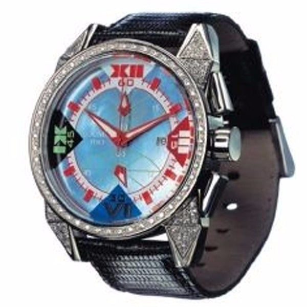 Locman Cavallo Pazzo Diamond Black Dial Red Leather Watch