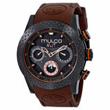 MULCO Nuit Mia Multi-Function Black Dial Brown Silicone band Unisex Watch MW5-1962-035 - BrandNamesWatch.com
