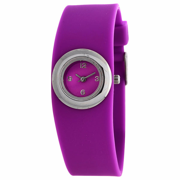 FMD by Fossil Women's Standard 3-Hand Analog Base Metal Silicone Watch FMDX225