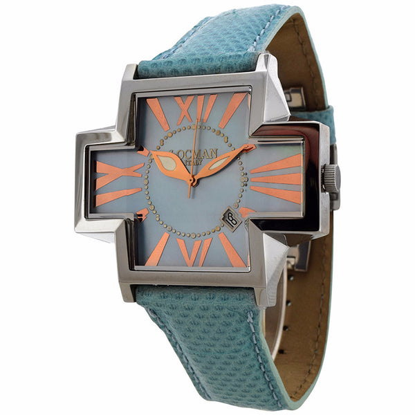 Locman Italy Women's Sky Blue Karung Snake Watch
