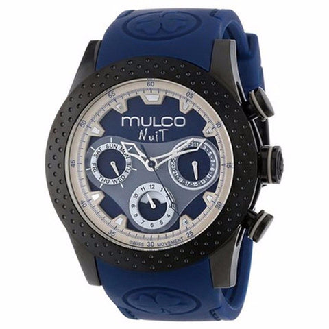 MULCO Nuit Mia Multi-Function Blue Dial Blue Silicone band Unisex Watch MW5-1962-045