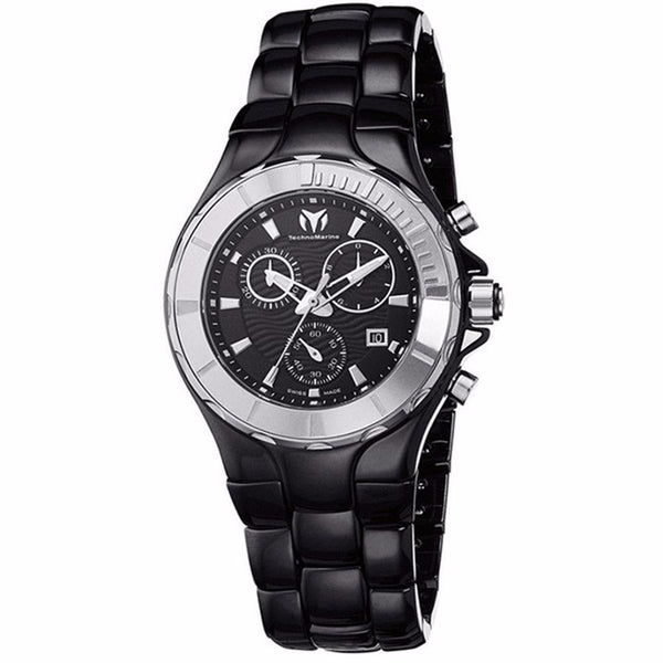 TECHNOMARINE CRUISE CERAMIC CRONOGRAPH BLACK DIAL LADIES WATCH 110028C