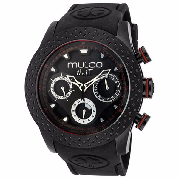 MULCO Nuit Mia Multi-Function Black Dial Black Silicone Unisex Watch MW5-1962-261