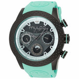 MULCO Nuit Mia Multi-Function Black Dial Light Green Silicone Band Unisex Watch MW5-1962-443 - BrandNamesWatch.com