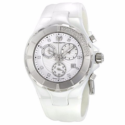 TECHNOMARINE CRUISE CERAMIC WHITE DIAL CHRONOGRAPH UNISEX WATCH 110031