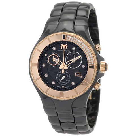 TECHNOMARINE CHRONOGRAPH BLACK DIAL BLACK CERAMIC UNISEX WATCH 110032C