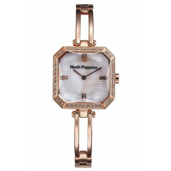 HUSH PUPPIES WOMEN'S GOLD TONE STAILESS STEEL MOTHER OF PEARL DIAL WATCH HP.3516L.1501