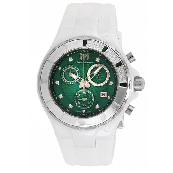 TECHNOMARINE Cruise Green Dial Ladies Ceramic Watch 110076
