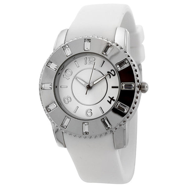 FMD by Fossil Women's Standard 3-Hand Analog Base Metal Silicone Watch FMDCT409A