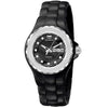 ECHNOMARINE CRUISE BLACK DIAL DIAMOND BEZEL BLACK CERAMIC LADIES WATCH 111054 CERAMIC WATCH
