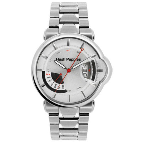 HUSH PUPPIES MEN'S SILVER DIAL STAILESS STEEL WATCH HP.7055M.1522
