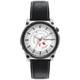 HUSH PUPPIES MEN'S WHITE DIAL BLACK GENUINE LEATHER STRAP WATCH HP.7056M.2522 - BrandNamesWatch.com