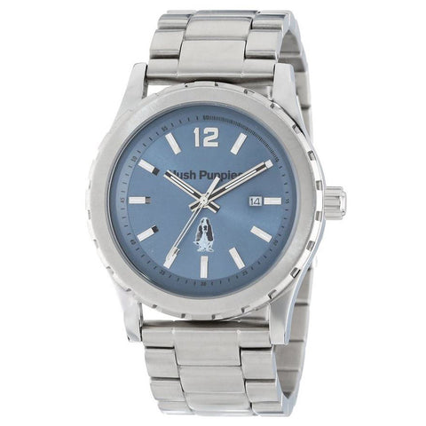 HUSH PUPPIES MEN'S ORBZ ROUND STAILESS STEEL BLUE DIAL LUMINOUS WATCH HP.3606M.1503