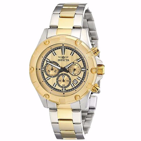 INVICTA SPECIALTY GOLD DIAL TWO TONE STAINLESS STEEL CHRONOGRPAH MEN'S WATCH 15604