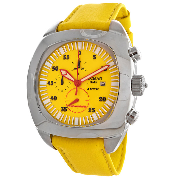 Locman 1970 Men's Yellow Dial Chronograph Watch