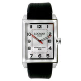 Locman Stealth R White Dial Black Rubber Men's Watch - BrandNamesWatch.com