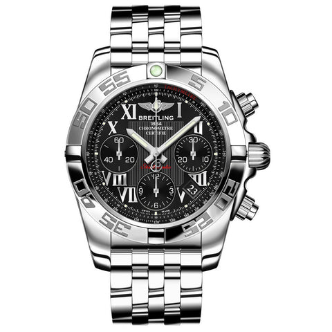 MEN'S BREITLING STAINLESS STEEL WATCH AB014012-BC04
