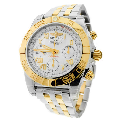 MEN'S BREITLING STAINLESS STEEL WATCH CB014012-A748