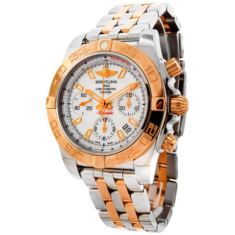 BREITLING CHRONOMAT 41 MOTHER OF PEARL DIAL STAINLESS STEEL ROSE GOLD MEN'S WATCH CB0140Y2/A743-378C