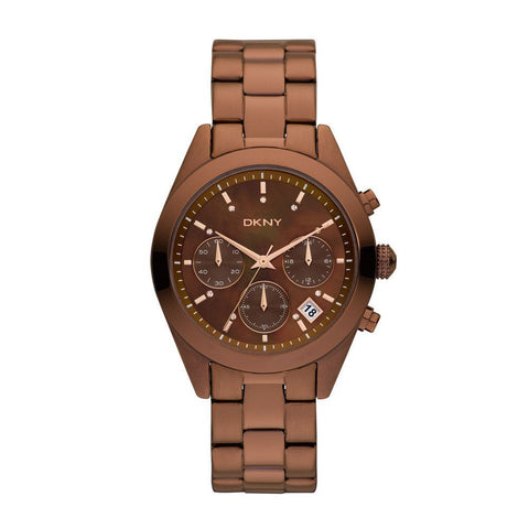 DKNY Women's 'NY8583' Brown Stainless Steel Quartz Ladies Watch NY8583