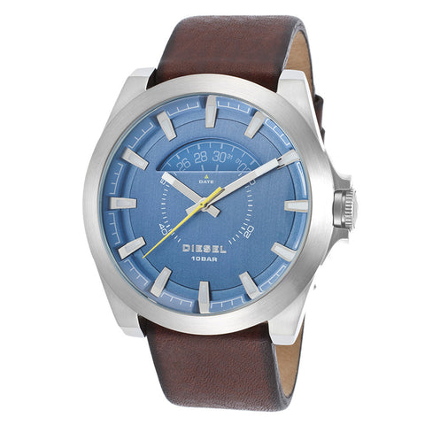 Diesel Arges Brown Leather Blue Dial Mens Watch DZ-DZ1661