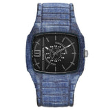 Diesel Mens Trojan Blue Denim Strap Watch DZ1669 - BrandNamesWatch.com