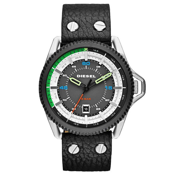 DIESEL Rollcage Exposed Grey and White Dial Men's Watch DZ1717