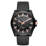Diesel Men's Black Genuine Leather, Dial & Ion Plated Ss Watch DZ1732 - BrandNamesWatch.com