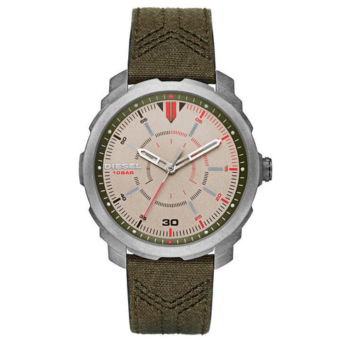 Diesel Machinus Green Canvas Strap Men's Watch DZ-DZ1735