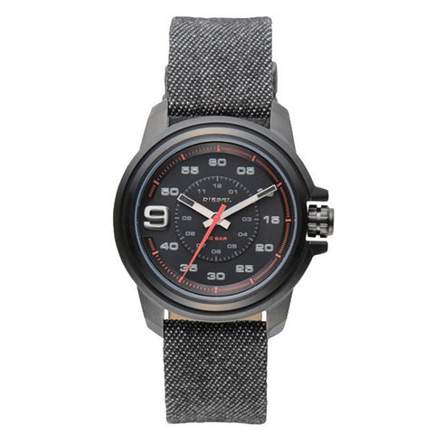DIESEL TIMEFRAMES AW 16 MENS BLACK DENIM WATCH DZ1742