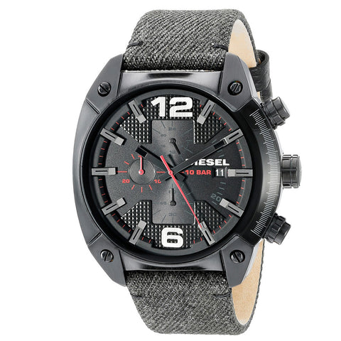 DIESEL Overflow Black Dial Men's Chronograph Watch DZ4373