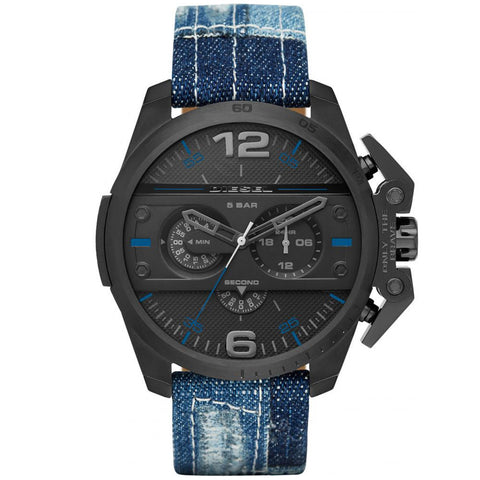 DIESEL Men's Chronograph Blue Denim Strap Watch DZ4397