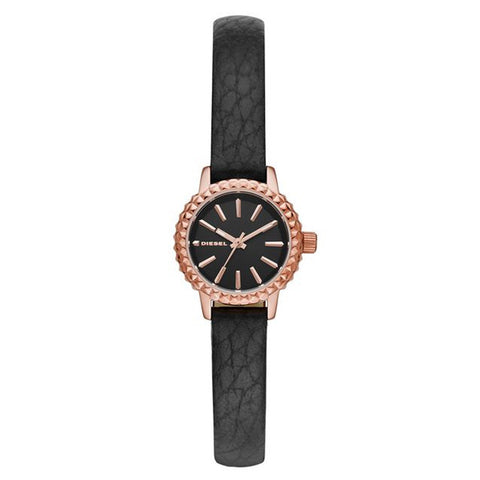 Diesel Women's Timeframe Black Leather Watch DZ5498