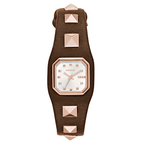DIESEL WOMEN'S TIMEFRAME BROWN LEATHER WATCH DZ5504