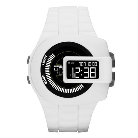 Diesel Viewfinder Digital White Silicone Men's Watch DZ7275