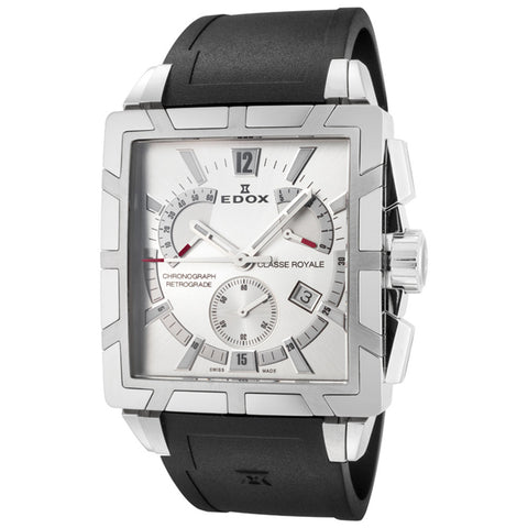 EDOX CLASSE ROYALE SILVER DIAL RETROGRADE MEN'S WATCH 01504 3 AIN