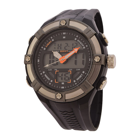 FMD by Fossil Mens Standard 3-Hand Digital Plastic Watch FMDAW020